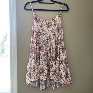 Cecico floral open back tunic